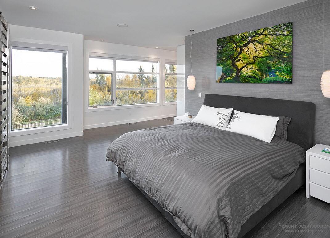 Спальня комната с эркером, Интерьер и дизайн окна с эрером