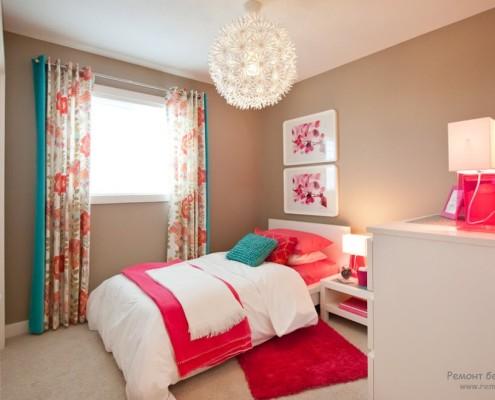 Розовый дизайн комнаты