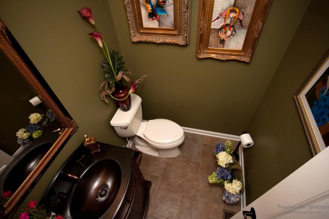 Оливковый туалет