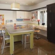 Кухня в оливковом тоне