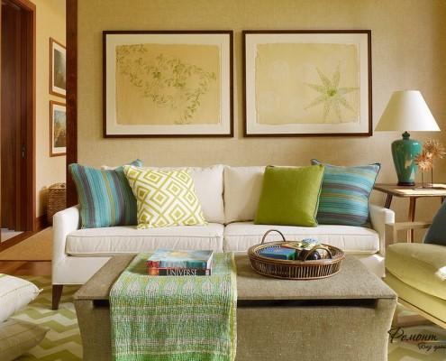Отличное решение – выделить функциональную белизну дивана