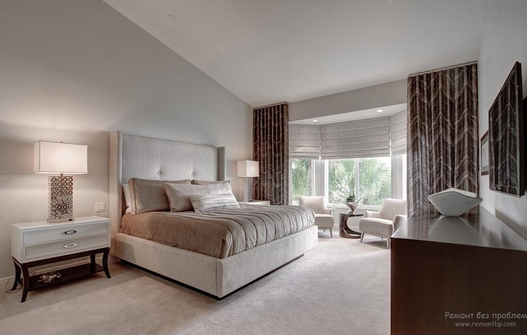 Дизайн спальни с диванами