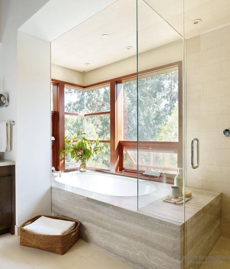 Солнечное освещение в ванной комнате