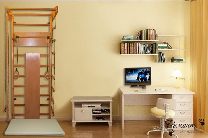 Спортивная лестница в детской комнате