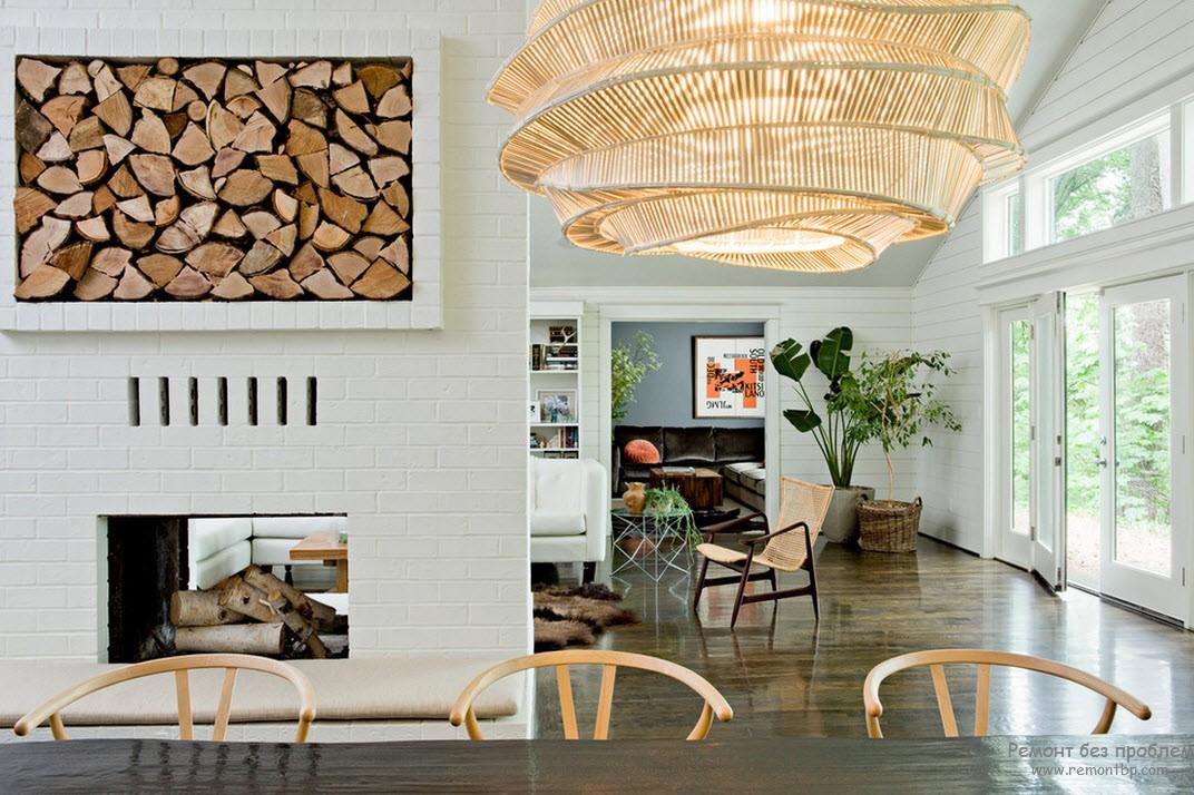 Плетенная мебель, дерево и натуральные элементы