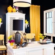 Экстравагантность сочетания желтого, черного и белого