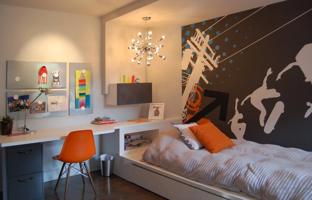Дизайн комнаты для мальчика с функциональной мебелью