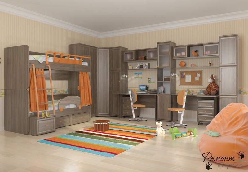 Общая комната для мальчика и девочки