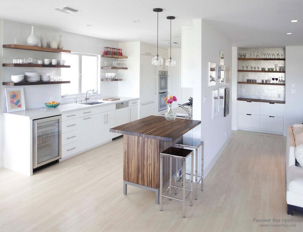 Перегородка закроет кухню от любопытного взгляда