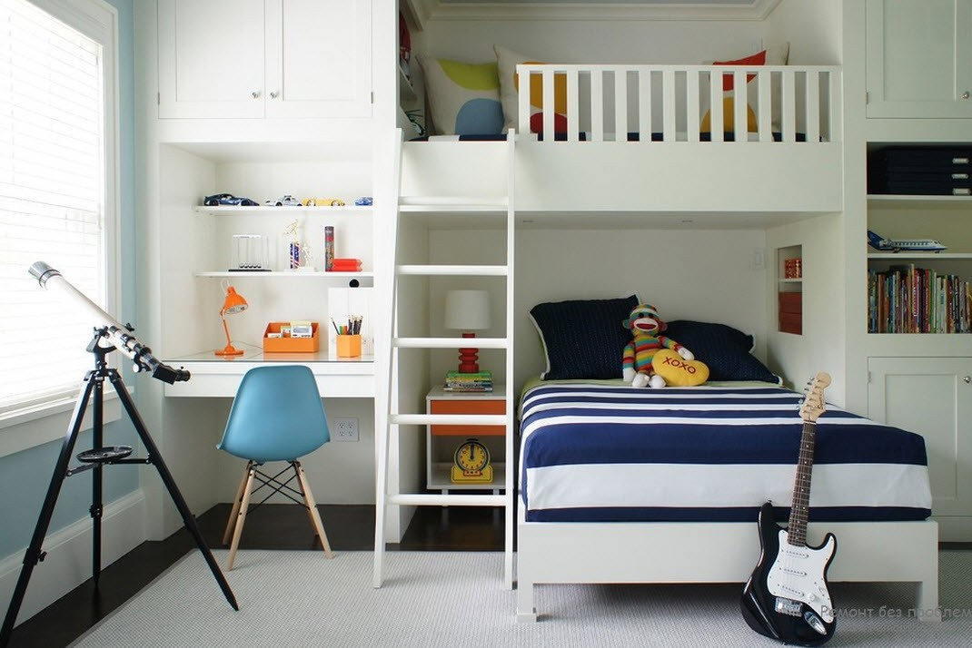 Дизайн комнаты-студии юного гитариста