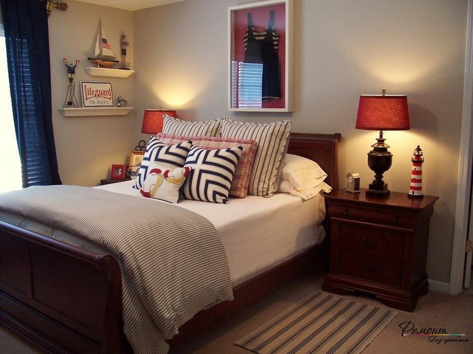 Гармония кровати и прикроватной мебели