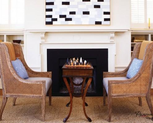 Симметрия в небольшой гостиной