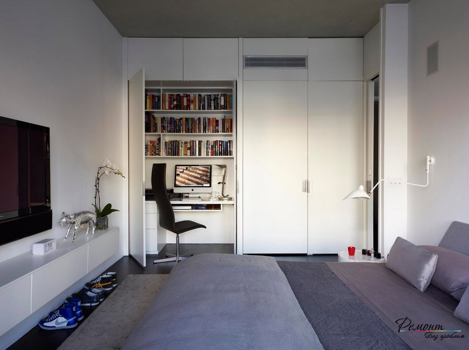 Идеальное рабочее место в спальне