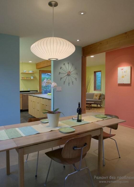 Правила сочетания голубого цвета в интерьере квартиры и дома