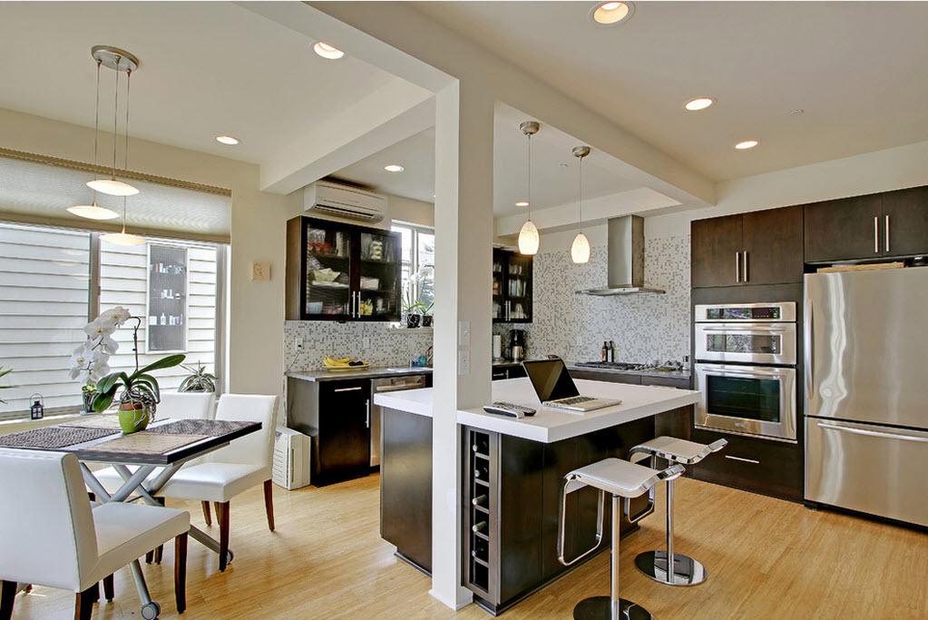 Универсальность предметов в кухонной и гостинной зонах