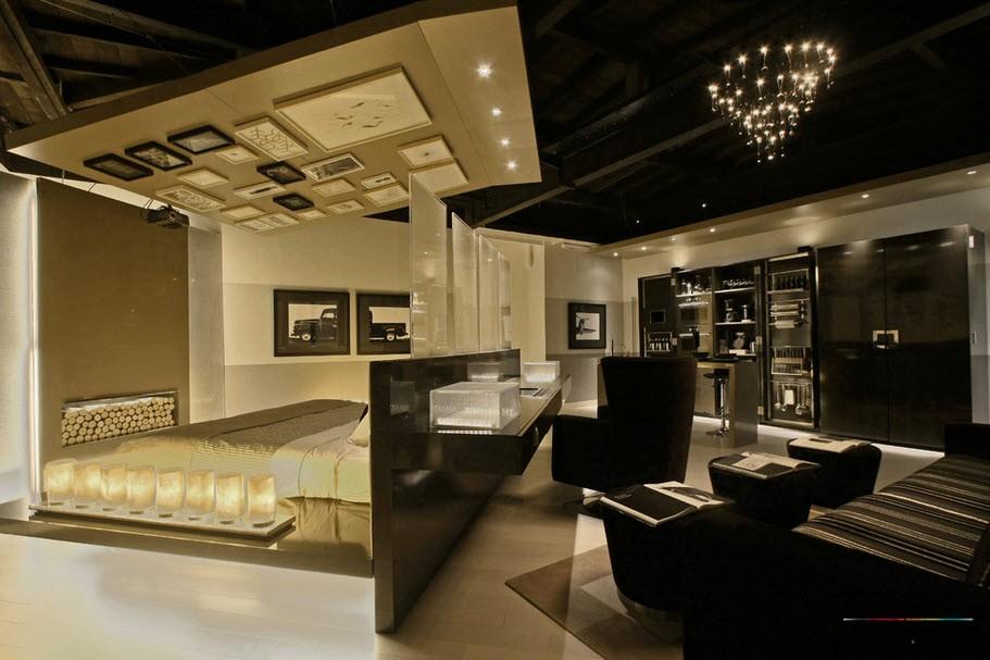 Интерьер и дизайн гостиной совмещенной со спальней, Современные идеи обустройства