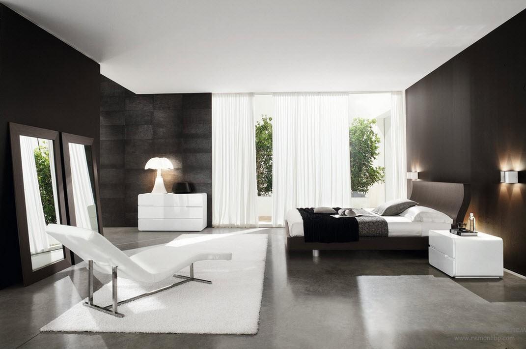 Характер спальни соответствует ее владельцу