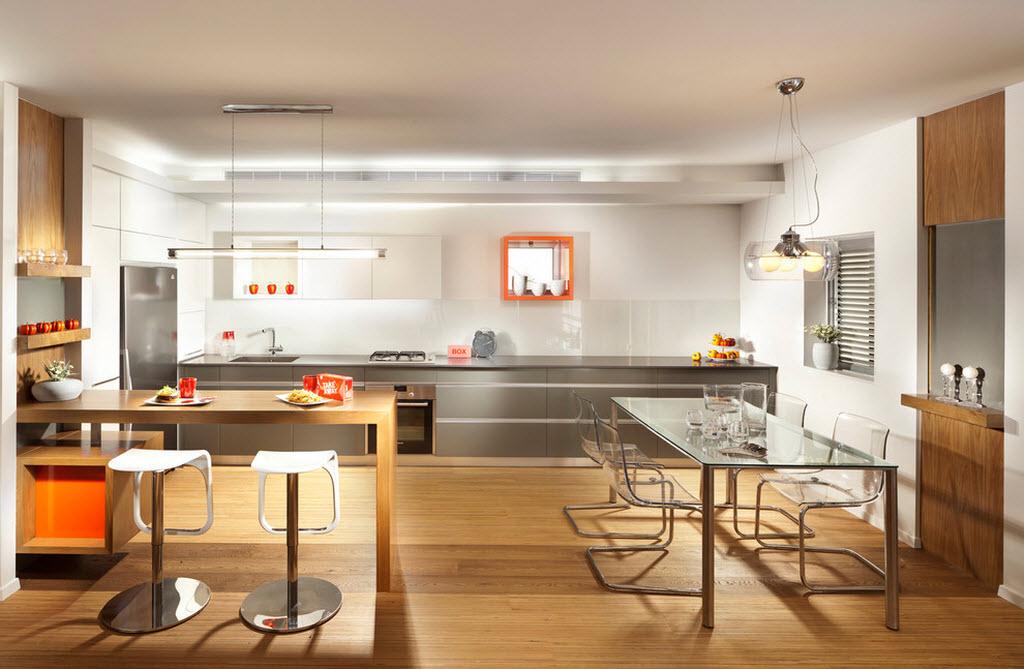 Барная стойка - завершающий элемент кухонной зоны