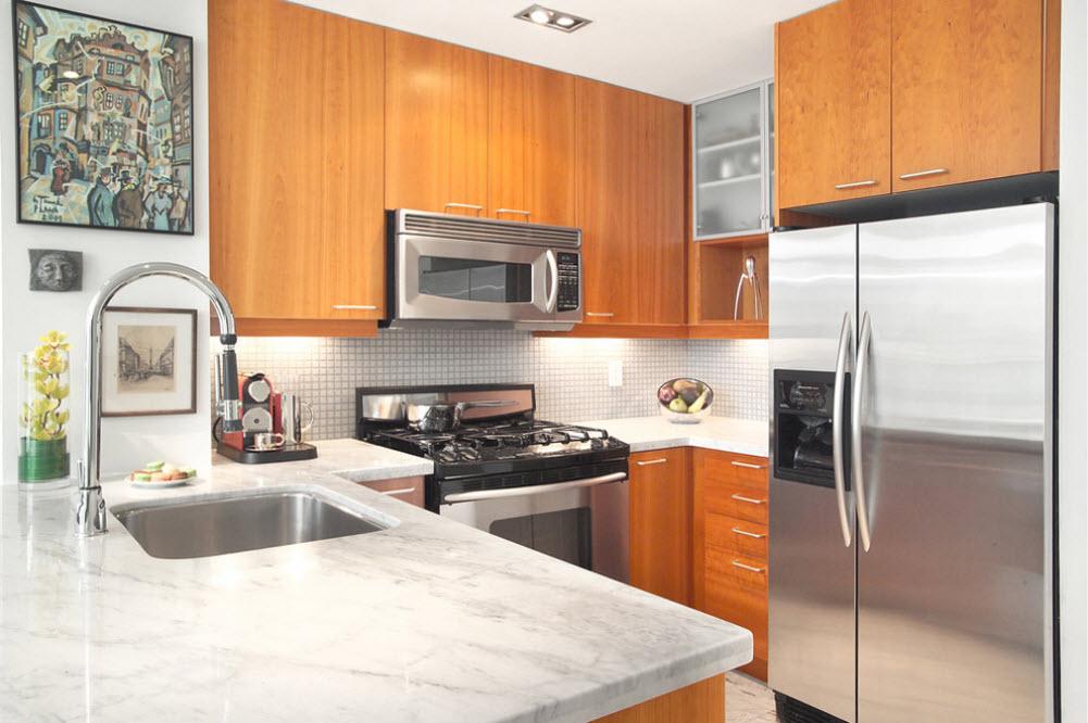 Удобное размещение кухонной мебели