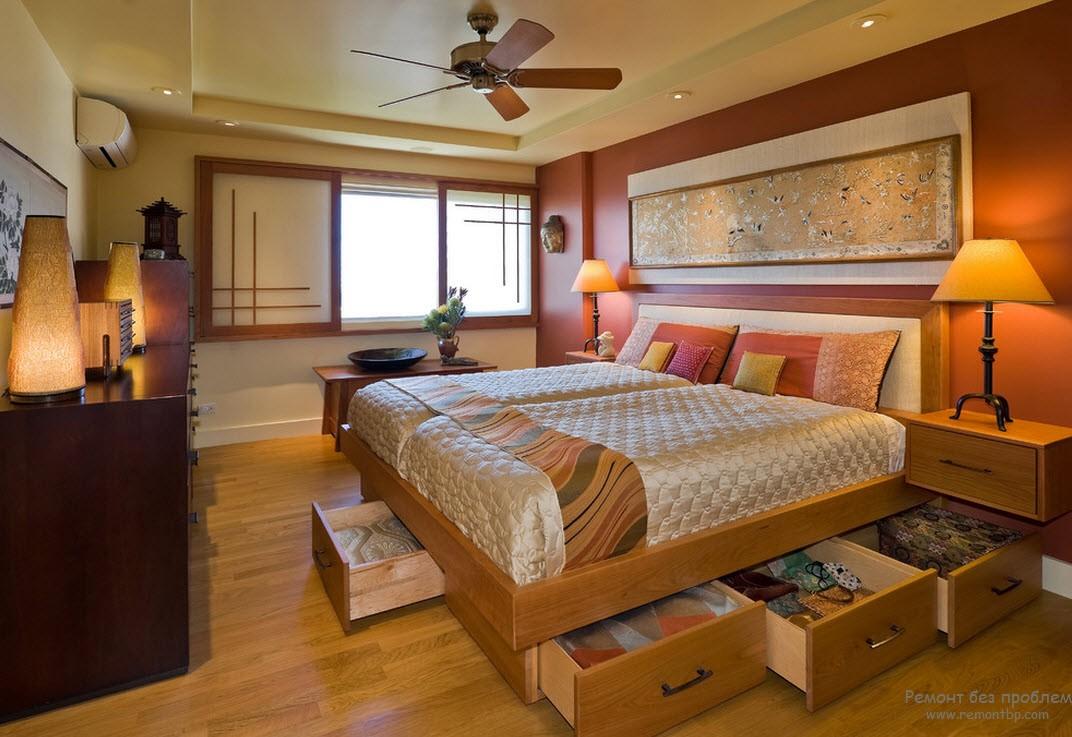 Кровать в китайском интерьере