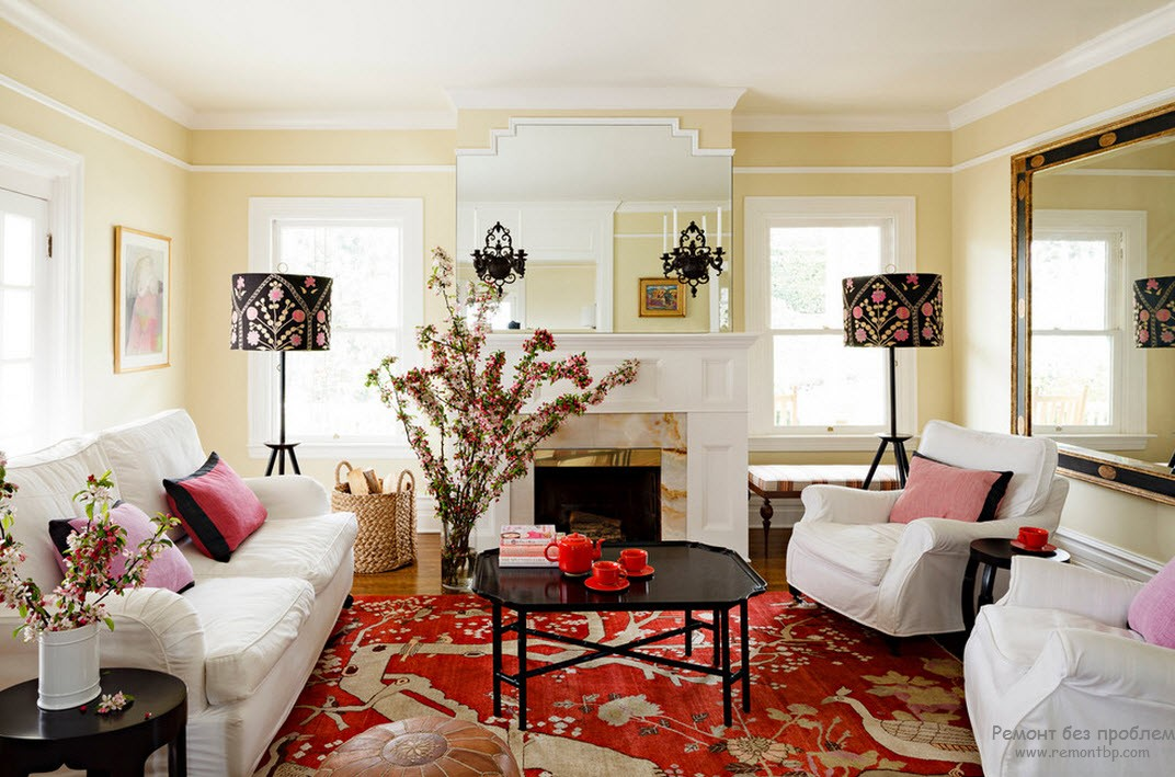 Теплота и уют гостиной