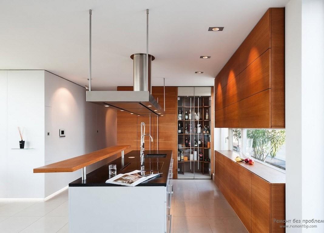 Большая кухня: интерьер, дизайн и зонирование просторной кухни-столовой