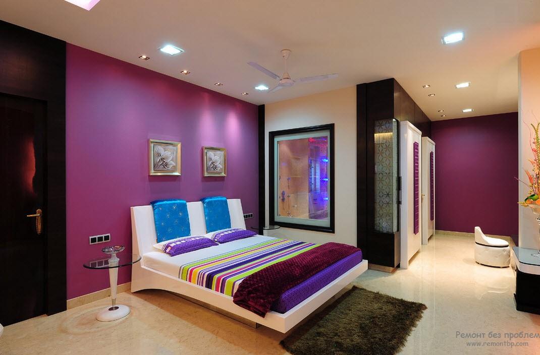 Светло-фиолетовая спальня