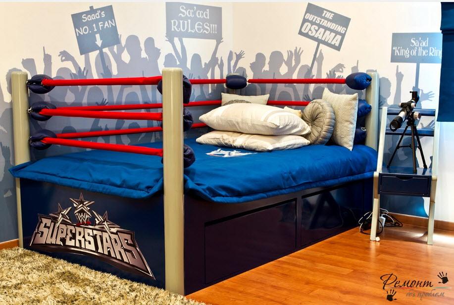 Необычное оформление комнаты для мальчика