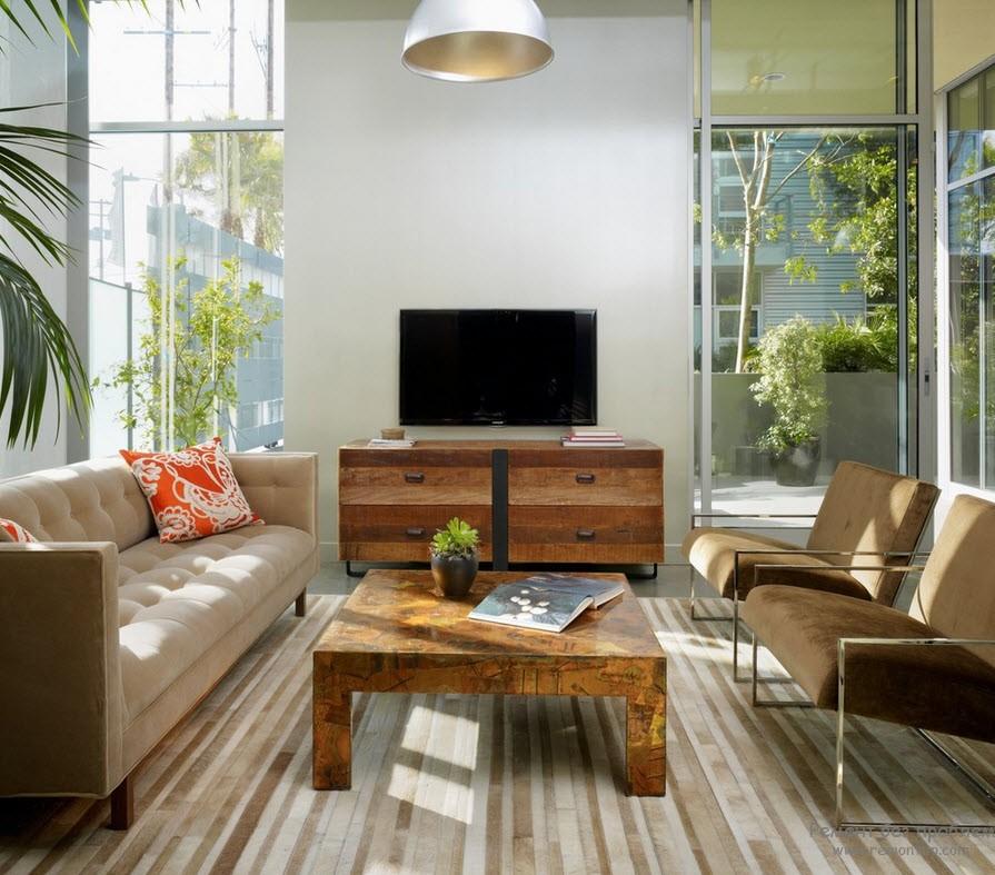 Низкая мебель оставляет пространство открытым