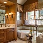 Стильный дизайн окон ванной
