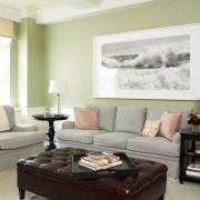 Интерьер и дизайн зеленой гостиной, Оформление комнаты в зеленом цвете