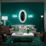 Оформляем гостиную в зеленых тонах
