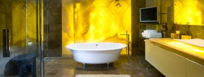Желтый цвет в дизайне ванной