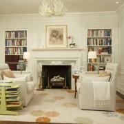 Книги, размещенные в интерьере с изюминкой