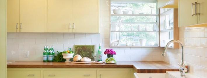 Интерьер кухни желтого цвета — лучик солнца в квартире