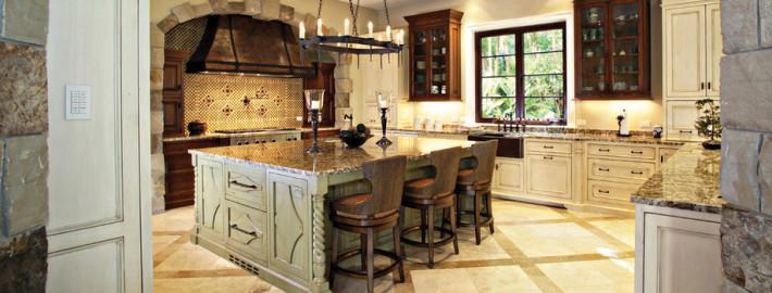Интерьер кухни серого цвета
