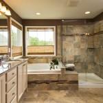 Коричневая ванная комната – выбор настоящих эстетов