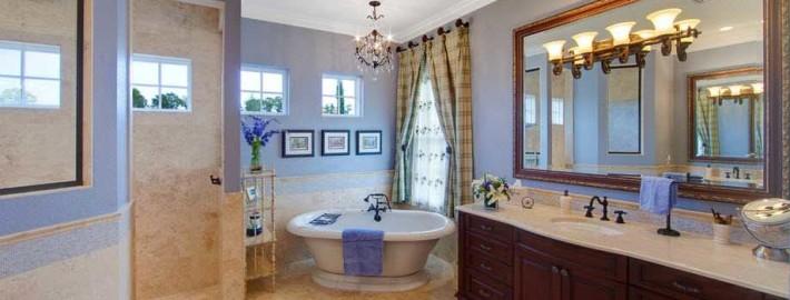 Синяя ванная — мир глубины и спокойствия