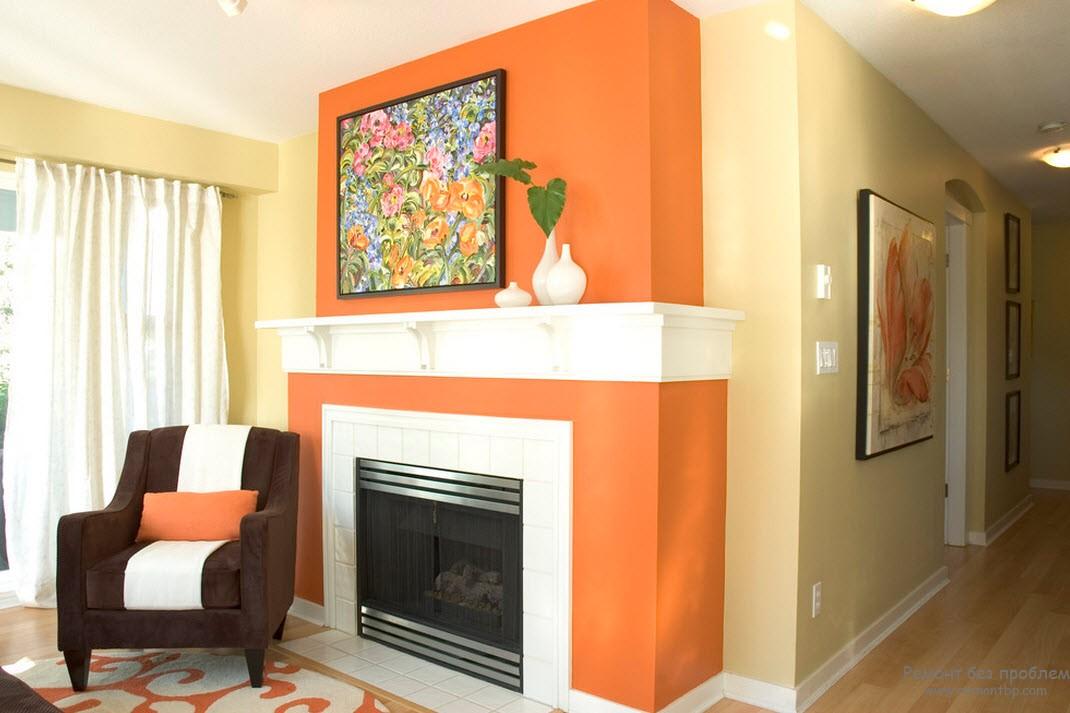 Оранжевый и пастельная палитра