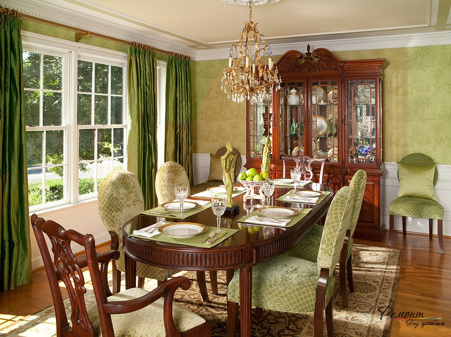 Two color dining room