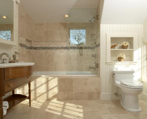 Светло бежевый цвет в ванной