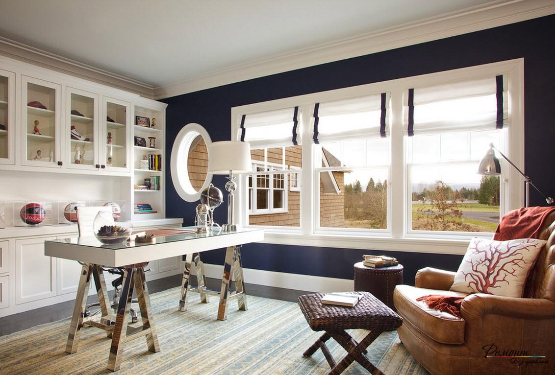Красивый интерьер комнат с римскими шторами: дизайн окон на фото