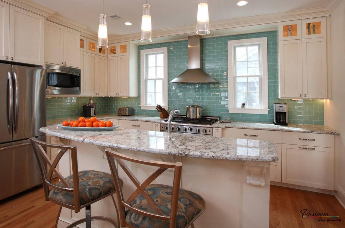 Красивый дизайн плитки на кухне: современные