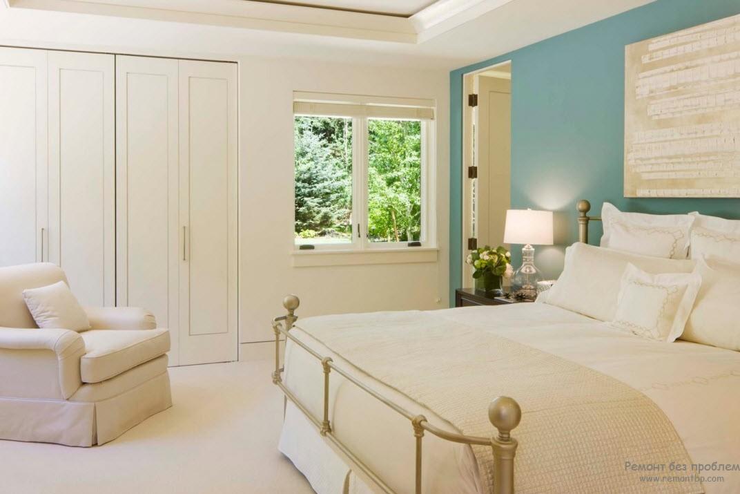 Дизайн комнаты в голубых тонах