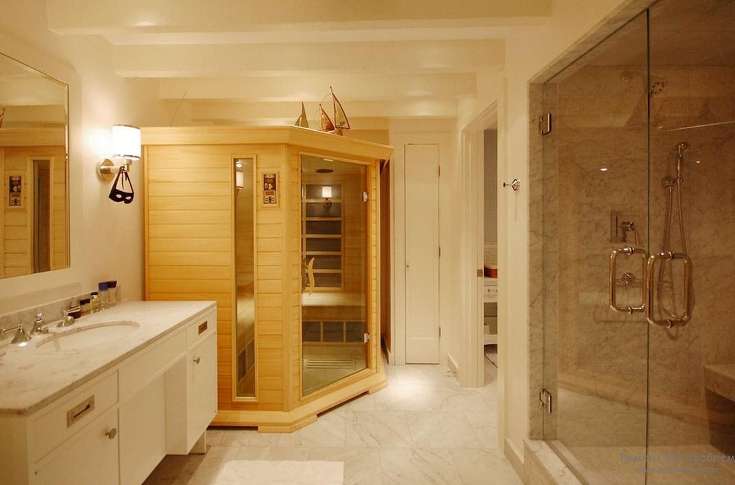 Ванная комната с саунами Слив для раковины, автоматклик-клак, Brillante