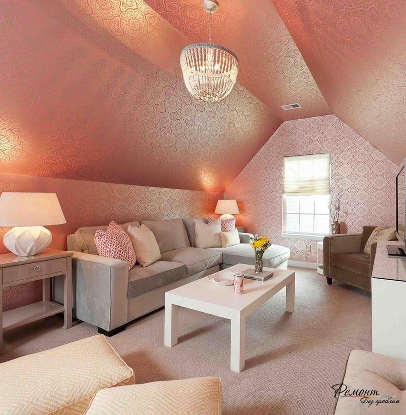 Стеклообои - один из лучших вариантов отделки стен зала