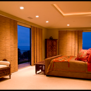 Бамбуковые шторы в азиатском дизайне