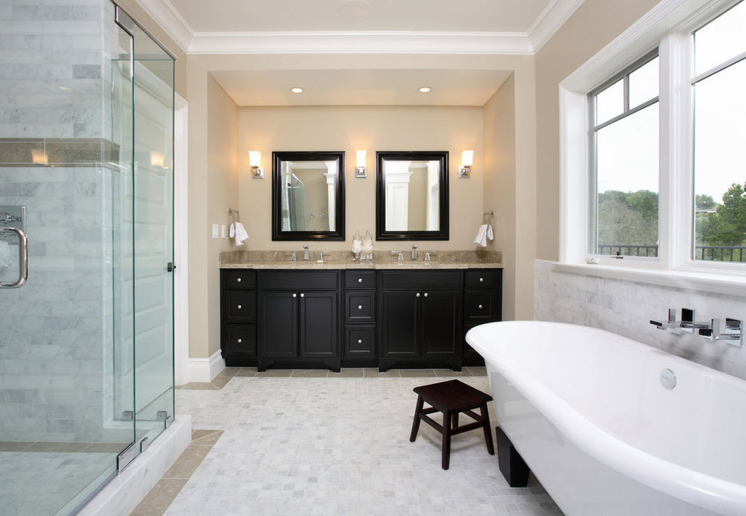 Бежевые тона в ванной
