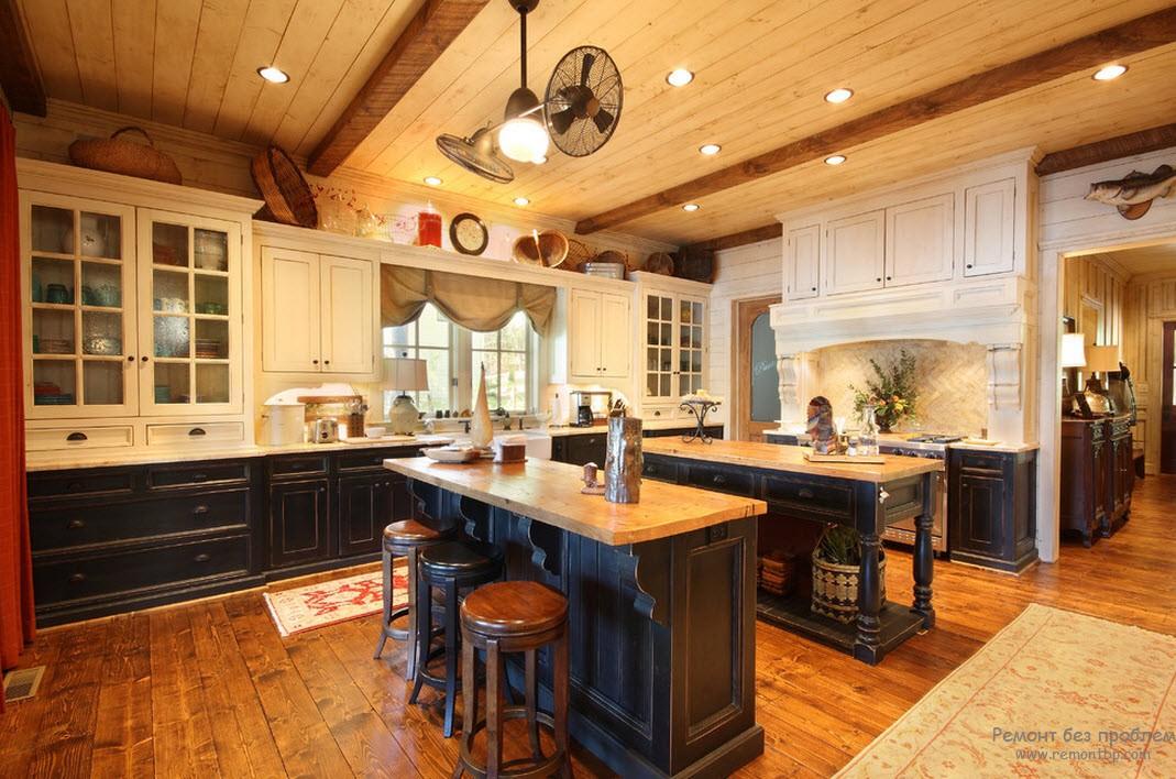 Распределение цвета в кухне