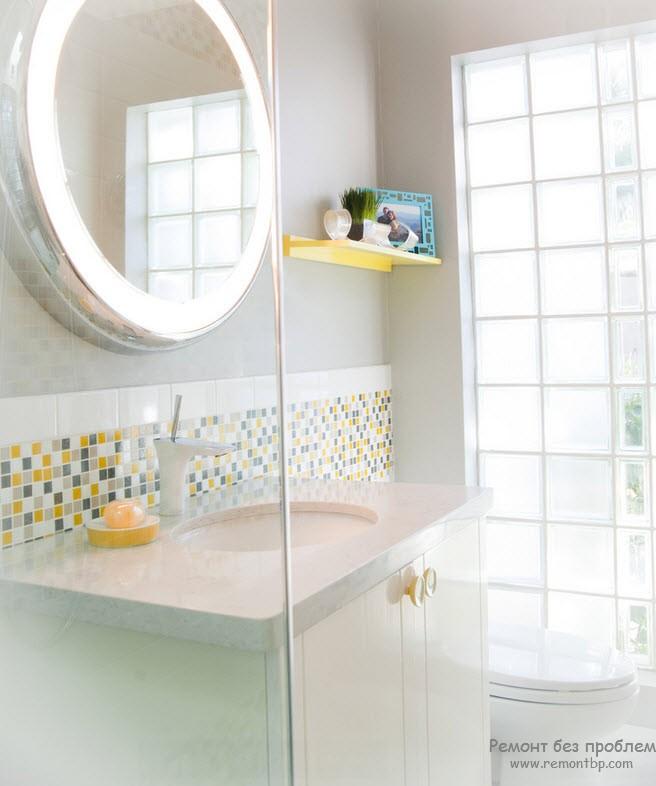 Glass tiles for bathroom